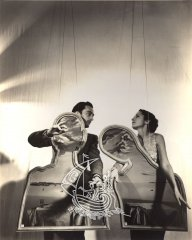 Salvador Dalí Domènech and Gala on a dramatized scene.