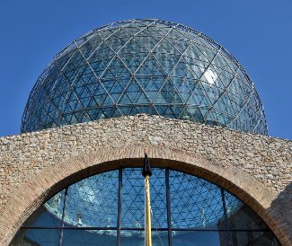 Image of the dome of Dalí's Theatre-Museum in Figueres.