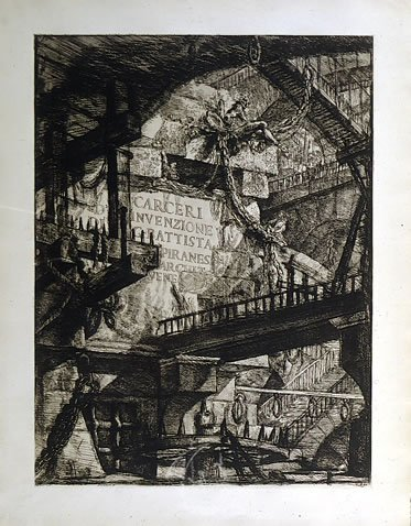 Carceri d'Invenzione, Les Prisons Imaginaires de Gian-Battista Piranesi. 12 prints of the facsimilie edition published by the Club International de Bibliophilie de Monaco el 1961.