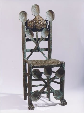 Untitled. Chair with culleretes (spoons)