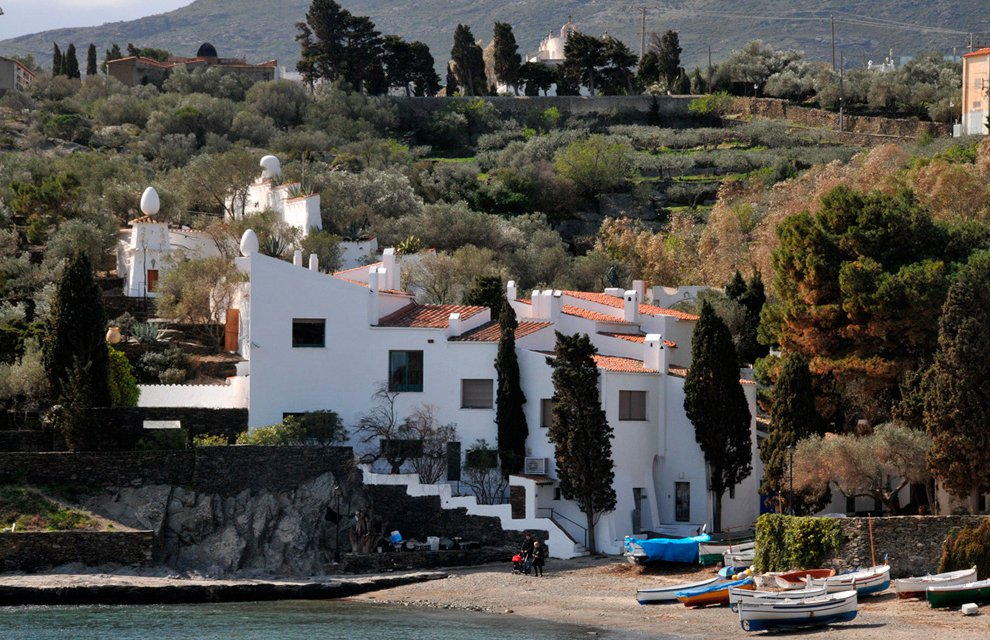 Picture of the artist's home Portlligat's cove, in Cadaqués