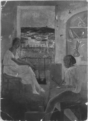 The Artist in His Studio at Riba d'en Pichot, Cadaqués