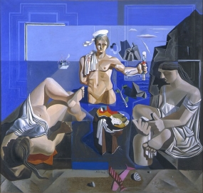 "Composition with Three Figures. ""Neo-cubist Academy"""