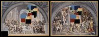 "After ""The School of Athens"" and ""The Fire in the Borgo"" by Raphael. Stereoscopic Work"