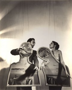 Gala and Salvador Dalí on a dramatized scene.