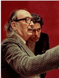Photography of Antoni Pitxot i Soler with the artist Salvador Dalí i Domènech