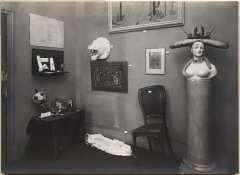 Man Ray, View of the<em> Exposition surréaliste</em> in the Galerie Pierre Colle, 1933