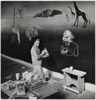 Dalí working at the Dream of Venus Pavilion