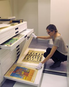 A girl takes a look at some of the images at the Centre for Dalinian Studies.