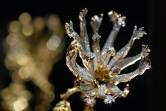 Picture detail of The Living Flower's main element, jewel designed by Salvador Dalí.