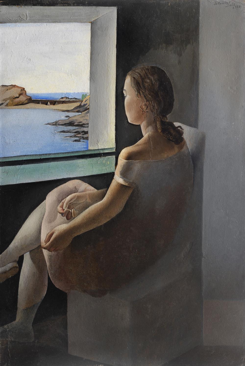 Figura de perfil (La Hermana Ana María) - Dali - 1925 - Fundació Gala-Salvador Dalí