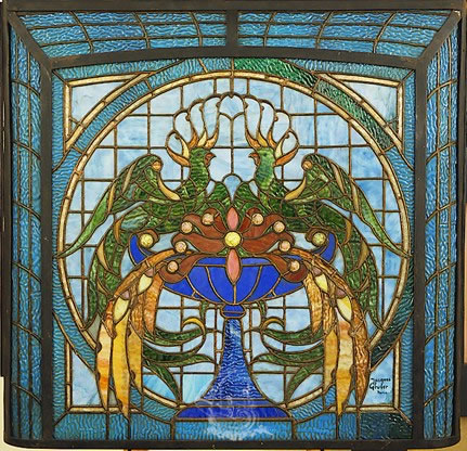 Stained glass designed by Jacques Grüber (1870-1936)