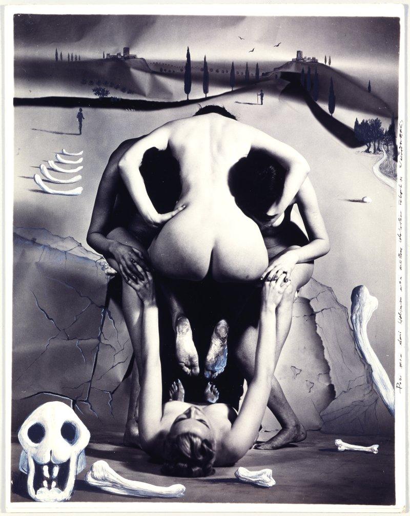 Skull and Landscape. Intervention of Salvador Dalí on photography ...