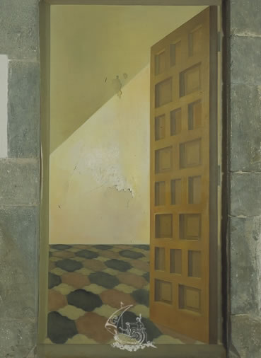 Untitled. Door with Trompe-l'oeil
