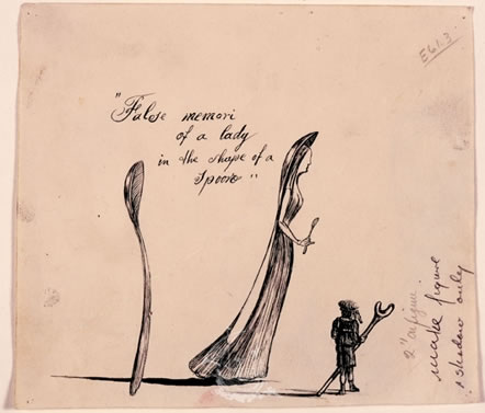 """False memori of a lady in the shape of a spoon"". Il·lustració per a la primera edició de ""The Secret Life of Salvador Dalí"""