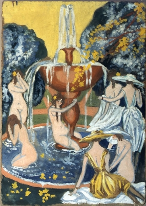 Nymphs and Young Ladies at the Garden Fountain