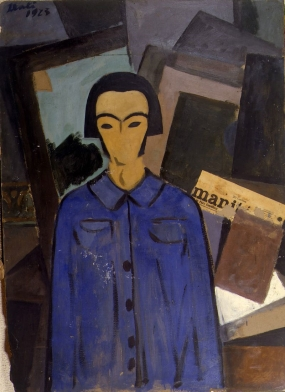 "Self-Portrait with ""L'Humanité"""