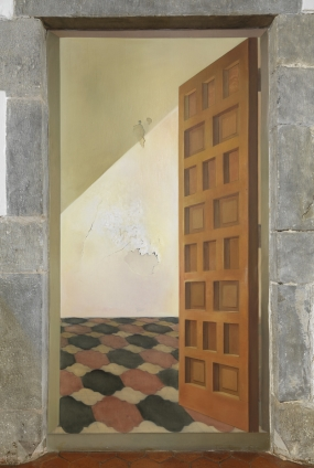 "Untitled. Door in ""trompe l'oeil"" of the Coat of Arms Room of the Gala Dalí Castle in Púbol"
