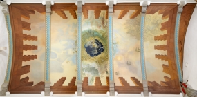 Untitled. Ceiling of the Coat of Arms Room of the Gala Dalí Castle in Púbol