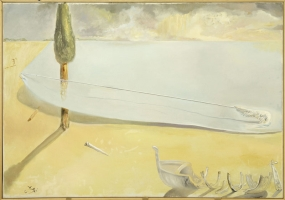 Untitled. Wing and Harpoon Lifting the Skin of the Sea