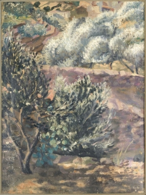 Untitled             . Landscape with olive trees