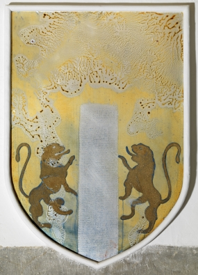 Untitled. Reinterpretation of the coat of arms of the Campllong family in the Coat of Arms Room of the Gala Dalí Castle in Púbol