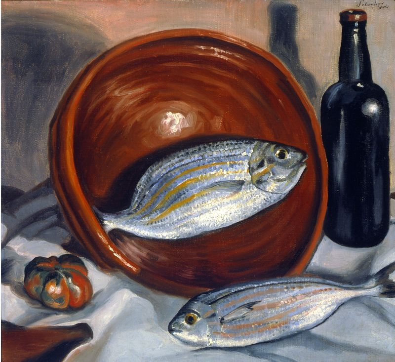 Still Life. Fish with Red Bowl