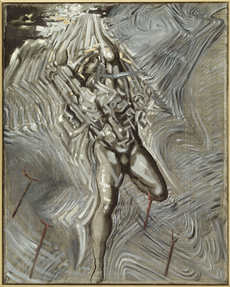 "Untitled. After ""Resurrection of Christ"" by Michelangelo"