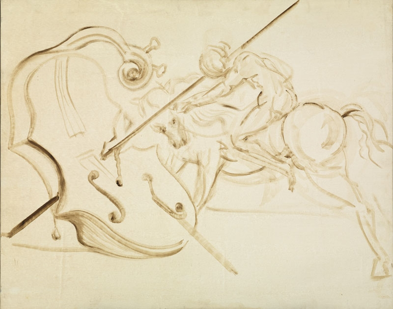 Untitled. St. George Overpowering a Cello