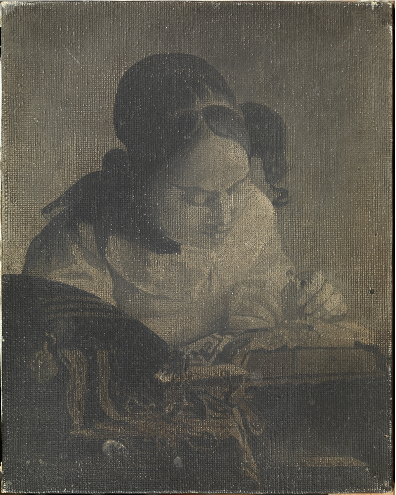 "Copy of Vermeer's ""The Lacemaker"""